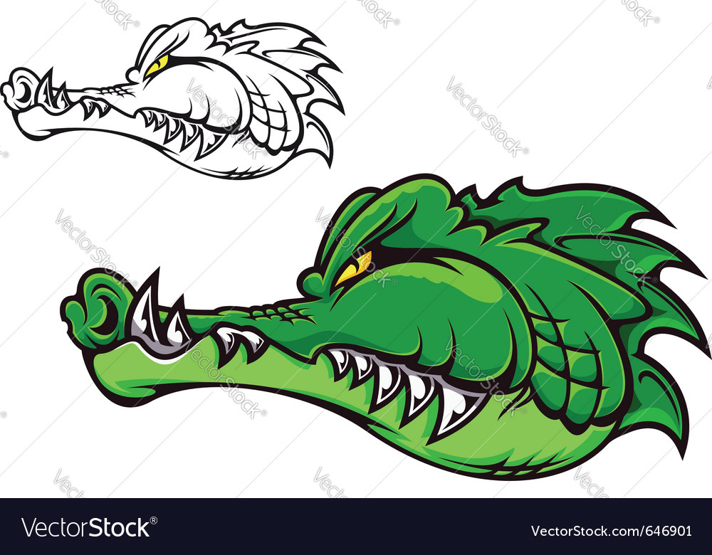 Cartoon crocodile vector | Price: 3 Credit (USD $3)