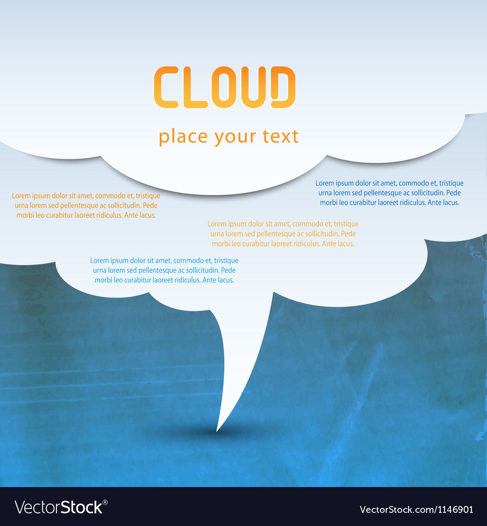 Cloud concept vector | Price: 1 Credit (USD $1)