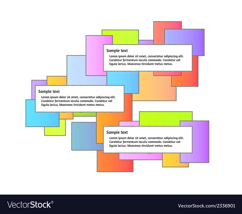 Color graphic with three boxes vector | Price: 1 Credit (USD $1)