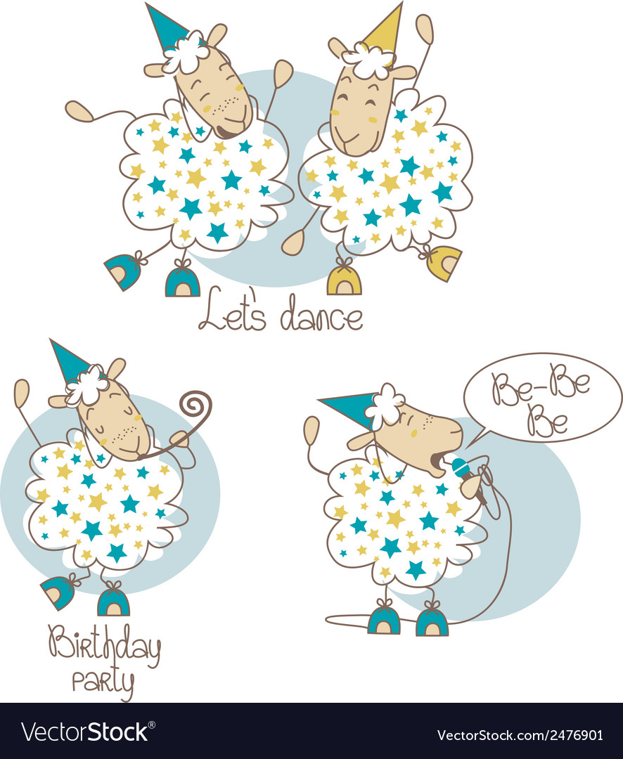 Dancing sheep vector | Price: 1 Credit (USD $1)
