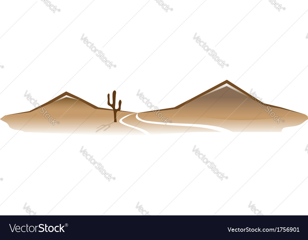 Desert landscape vector | Price: 1 Credit (USD $1)
