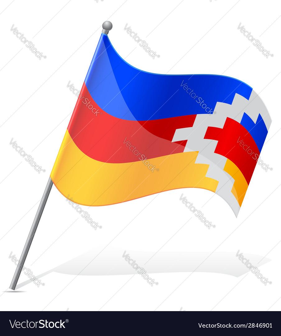 Flag of nagorno karabakh republic vector | Price: 1 Credit (USD $1)