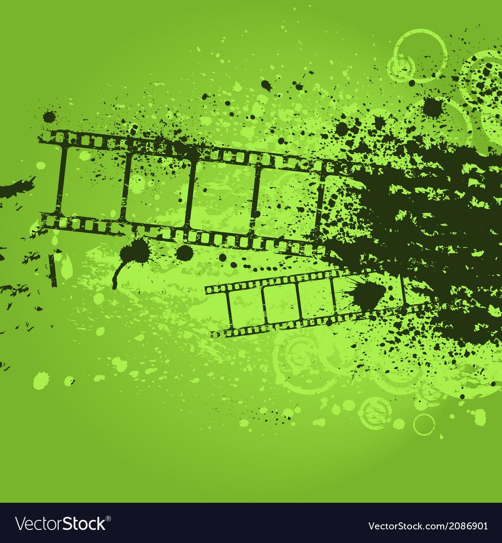 Grunge green film vector | Price: 1 Credit (USD $1)