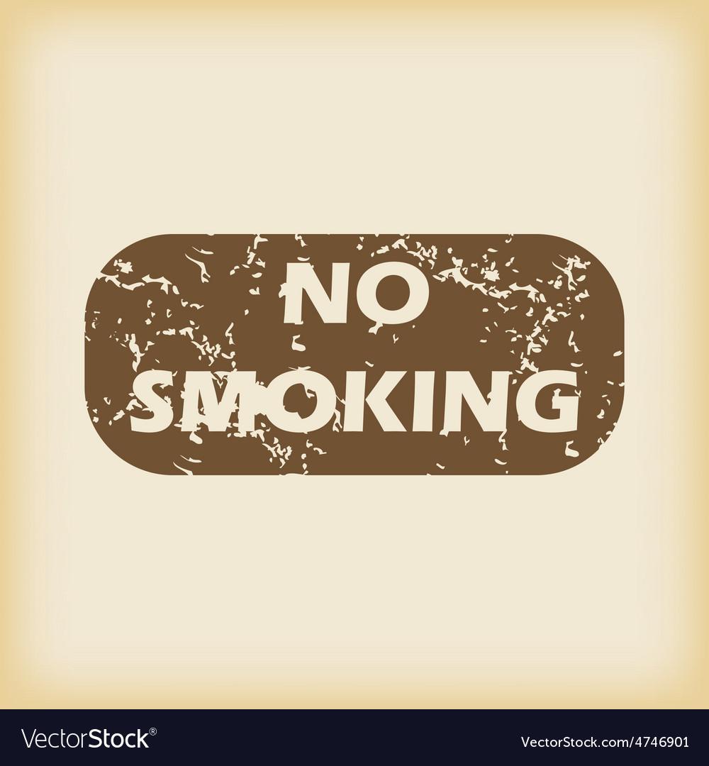 Grungy no smoking icon vector | Price: 1 Credit (USD $1)