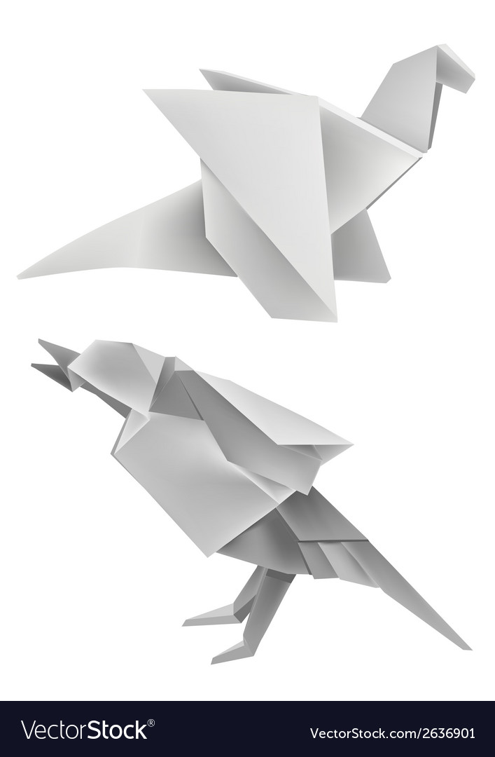 Origami dragon bird vector | Price: 1 Credit (USD $1)