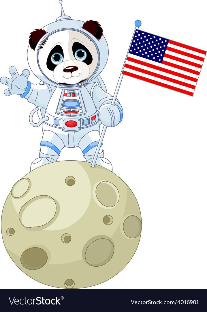Panda astronaut vector | Price: 3 Credit (USD $3)