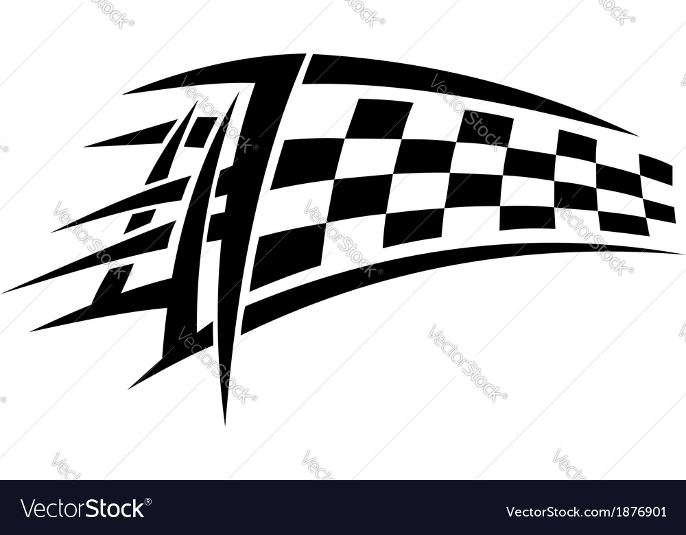 Racing tribal tattoo vector | Price: 1 Credit (USD $1)