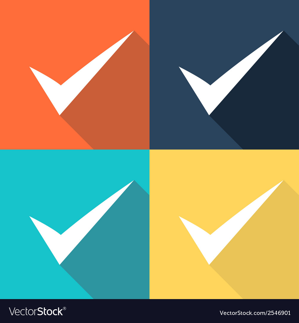 Set of true signs vector | Price: 1 Credit (USD $1)