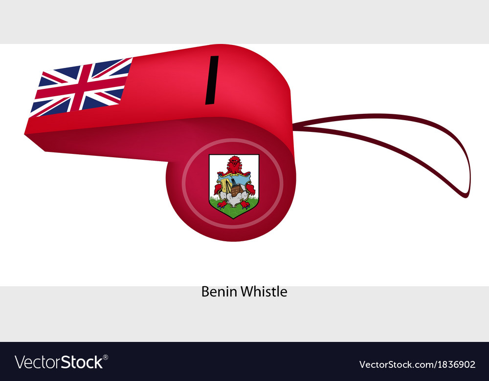 A beautiful red whistle of bermuda flag vector | Price: 1 Credit (USD $1)