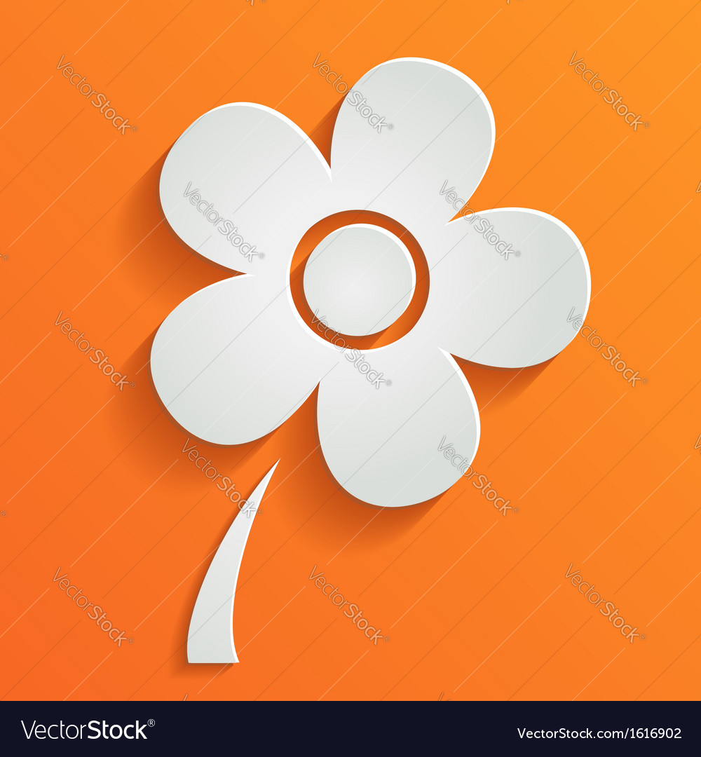 Abstract summer background with white flower vector | Price: 1 Credit (USD $1)