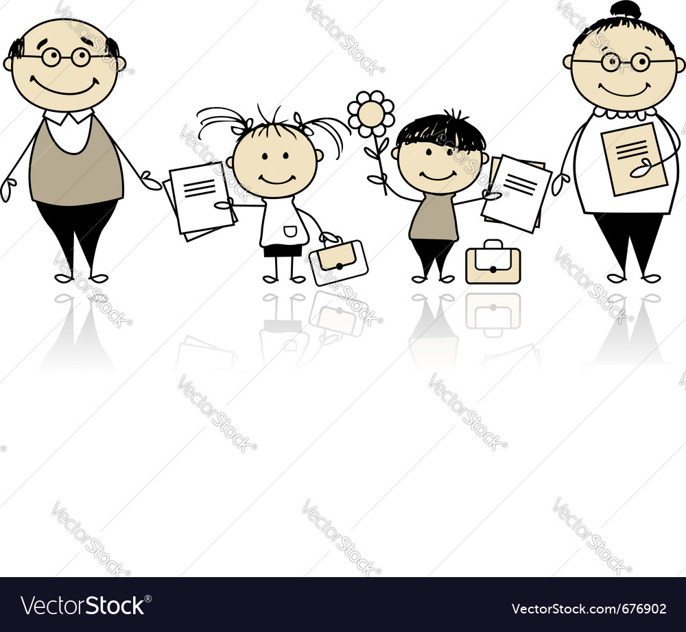 Back to school children vector | Price: 1 Credit (USD $1)