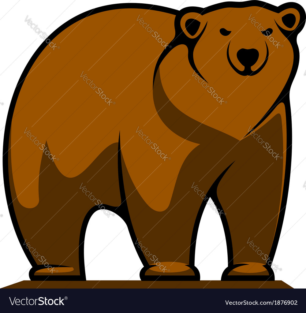Big brown grizzly or brown bear vector | Price: 1 Credit (USD $1)