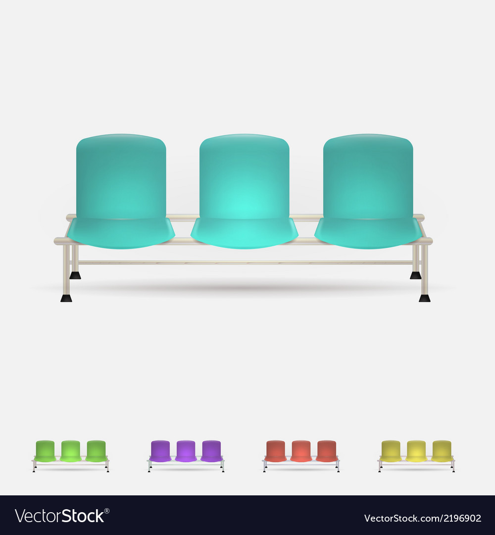 Colored waiting benches vector | Price: 1 Credit (USD $1)