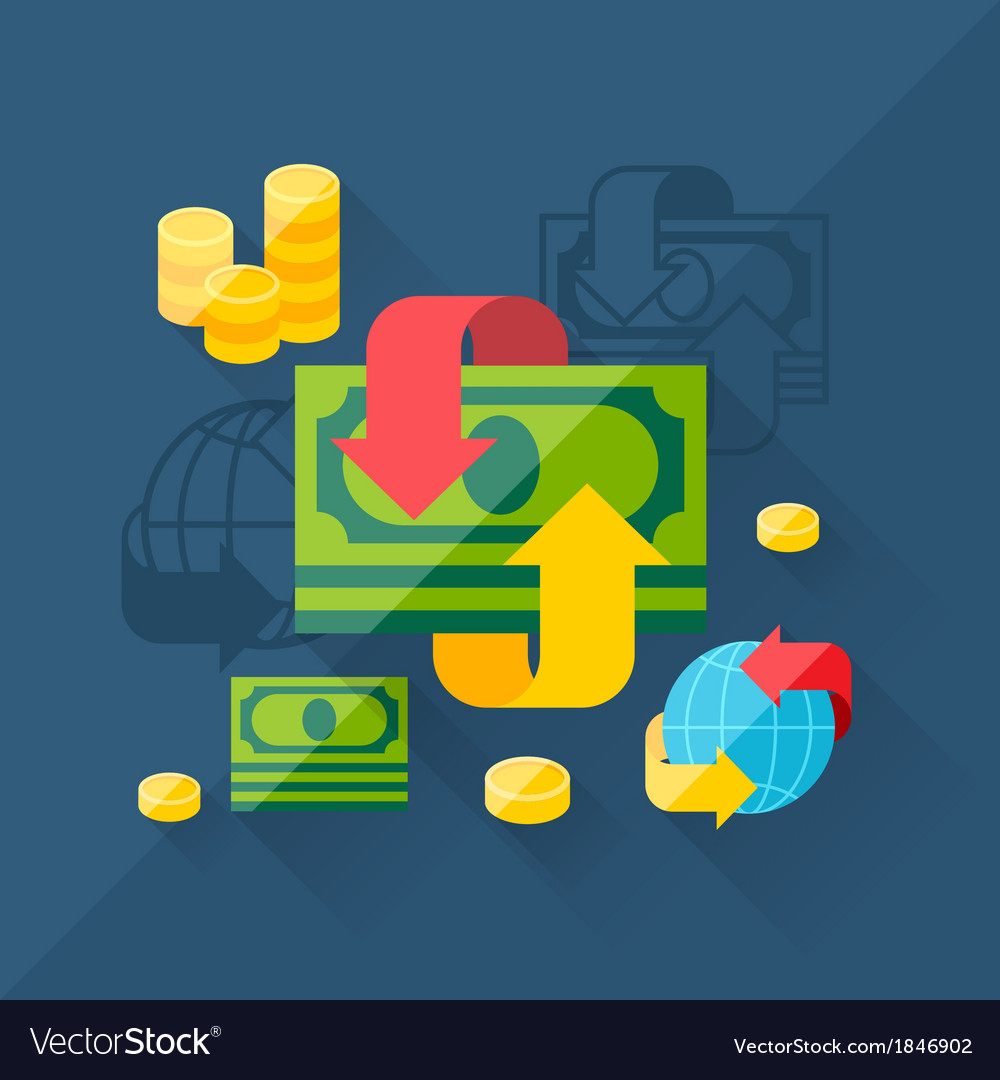 Concept of exchange in flat design style vector | Price: 1 Credit (USD $1)
