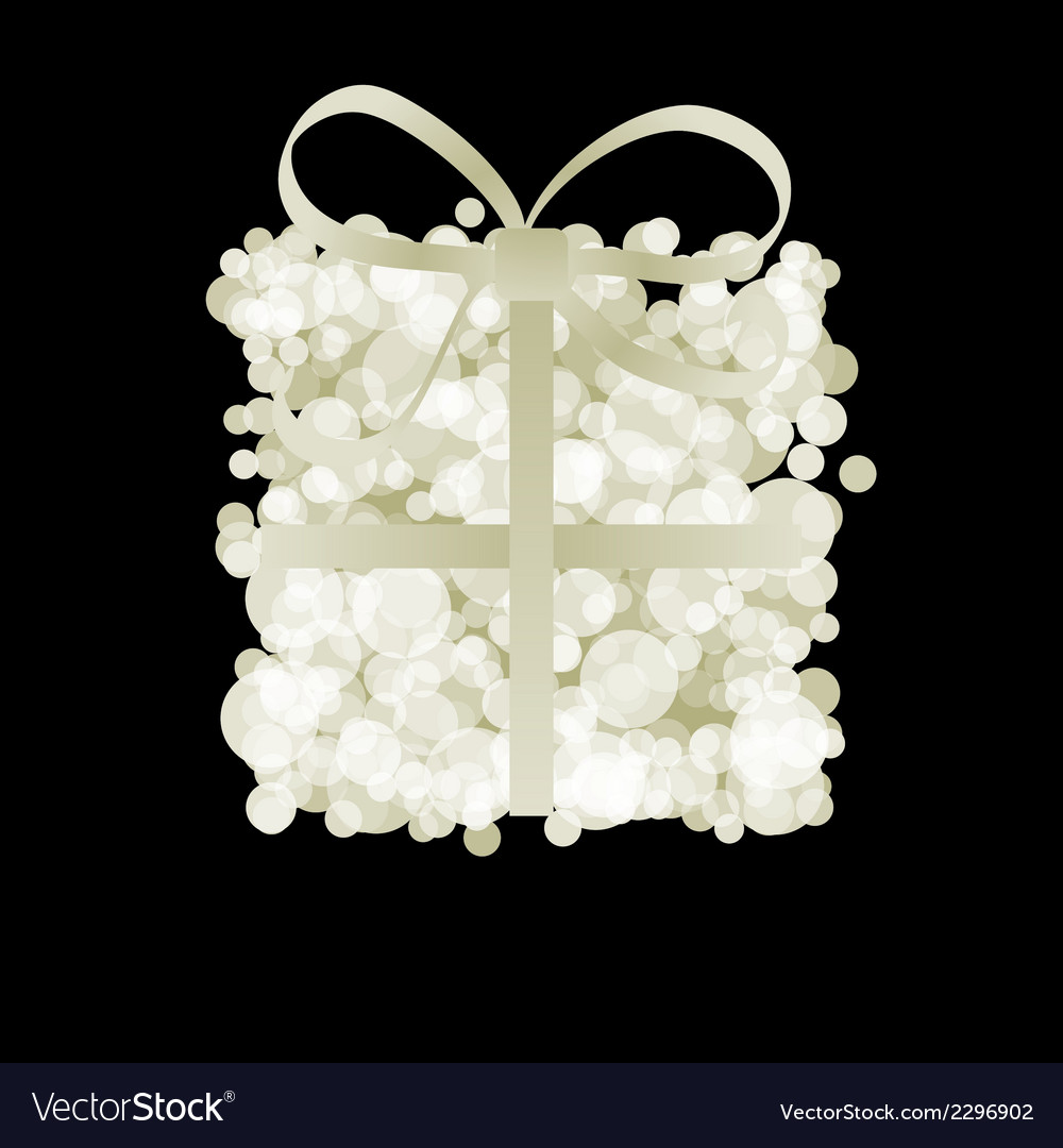 Elegant gift box with ribbon  eps8 vector | Price: 1 Credit (USD $1)