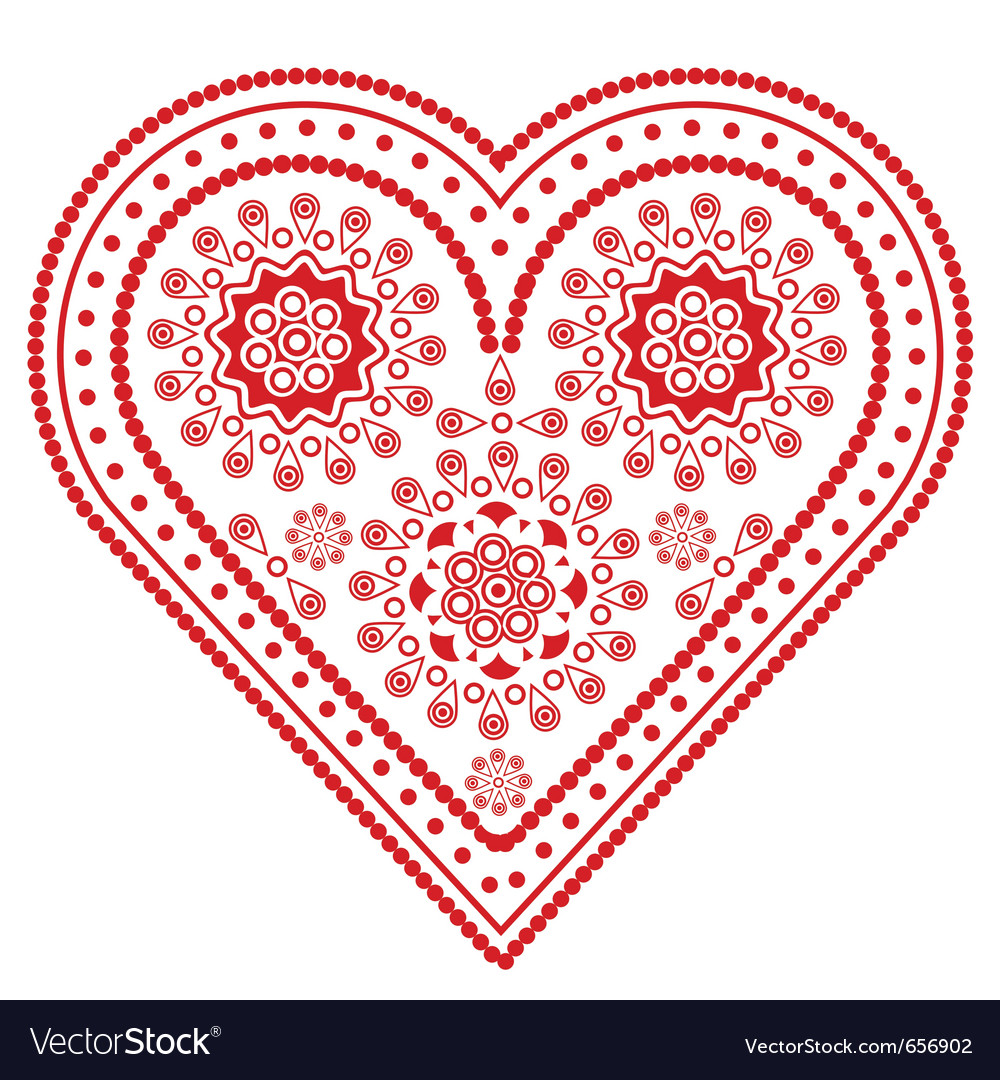 Fancy valentine heart vector | Price: 1 Credit (USD $1)