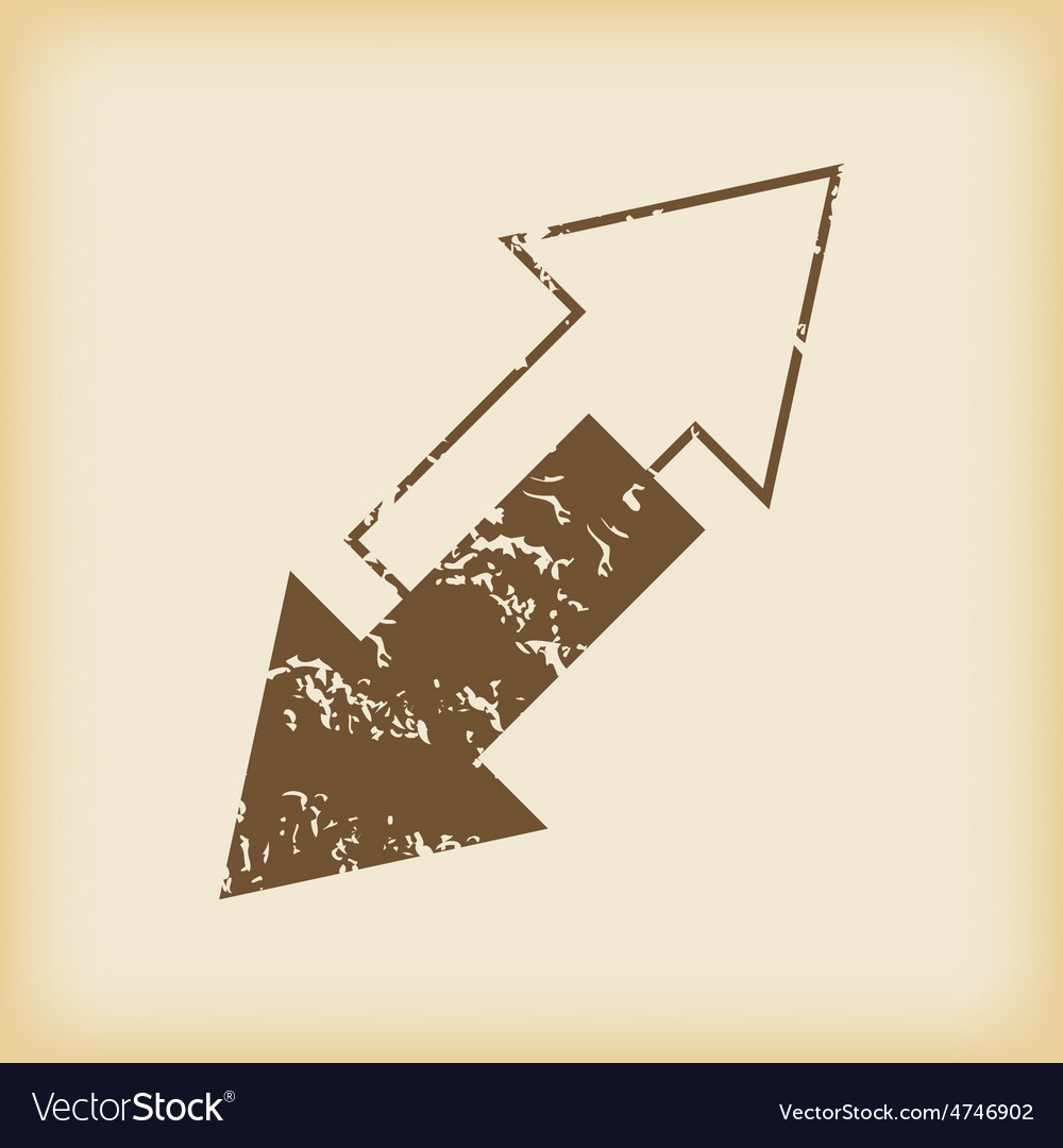 Grungy titlted arrows icon vector | Price: 1 Credit (USD $1)