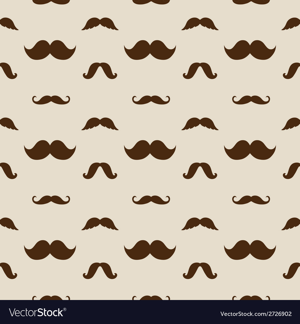 Hipster mustaches seamless pattern vector | Price: 1 Credit (USD $1)