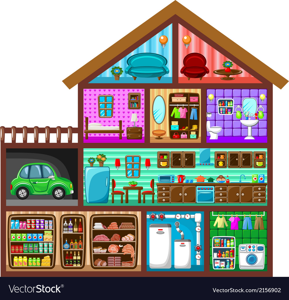 House in a cut vector | Price: 3 Credit (USD $3)