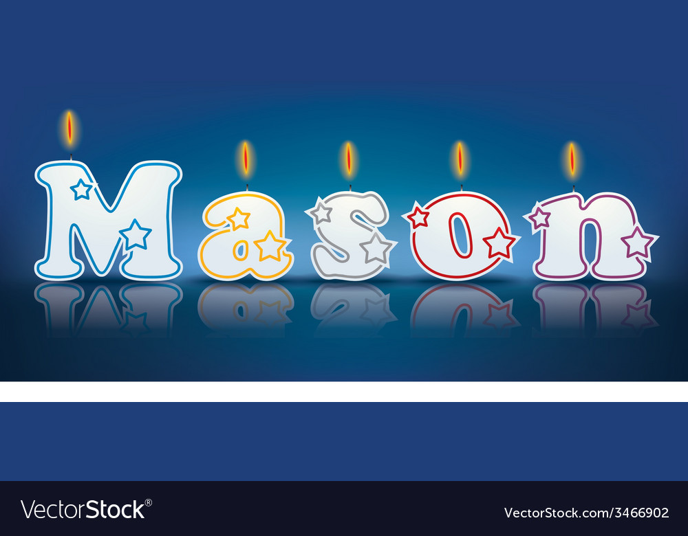 Mason written with burning candles vector | Price: 1 Credit (USD $1)