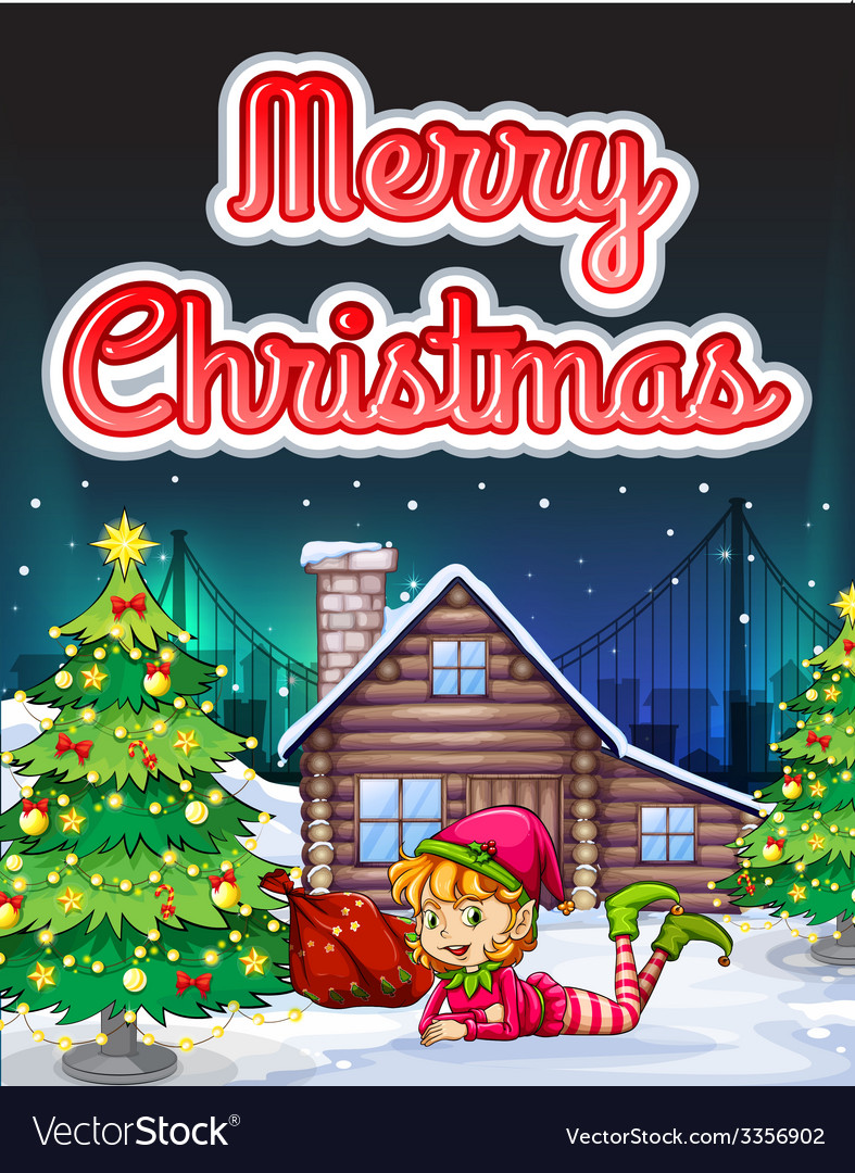 Merry christmas card vector   Price: 5 Credit (USD $5)