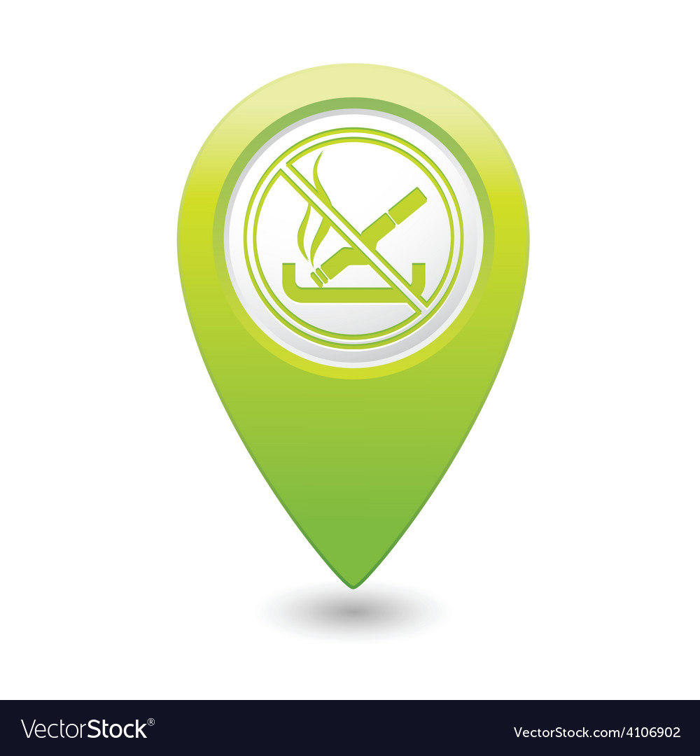 No smoking green map pointer vector | Price: 1 Credit (USD $1)