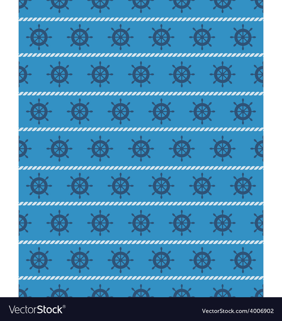 Seamless sea pattern blue wheel on light blue vector | Price: 1 Credit (USD $1)
