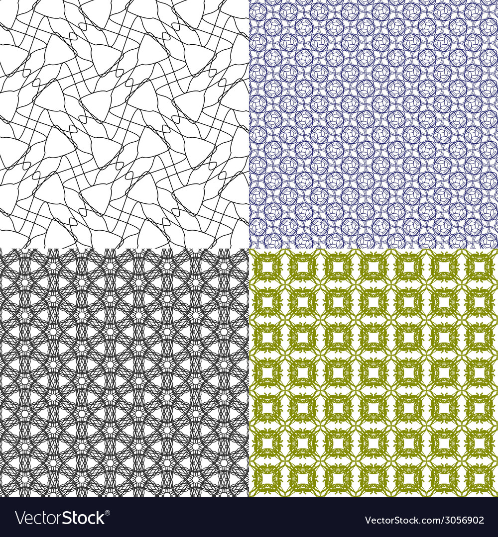 Set of pattern modern stylish texture repeating vector   Price: 1 Credit (USD $1)