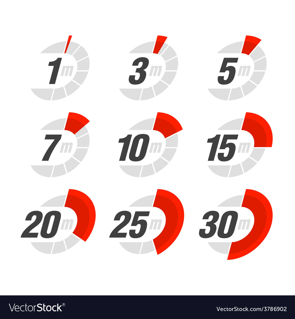 Set of timers vector | Price: 1 Credit (USD $1)