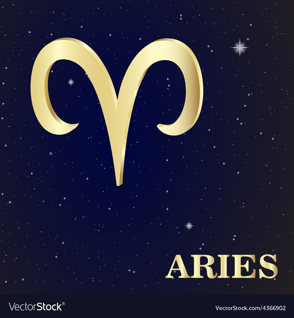 Sign of the zodiac aries is the starry sky vector | Price: 1 Credit (USD $1)