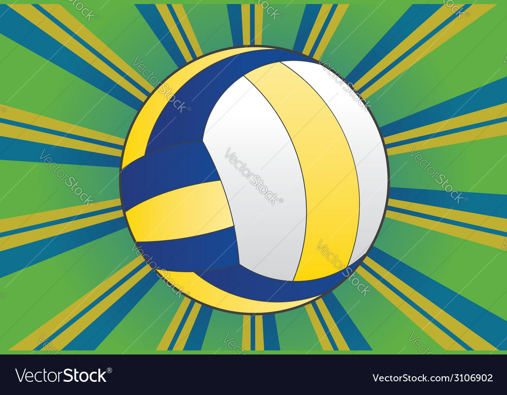 Volleyball ball background2 vector | Price: 1 Credit (USD $1)