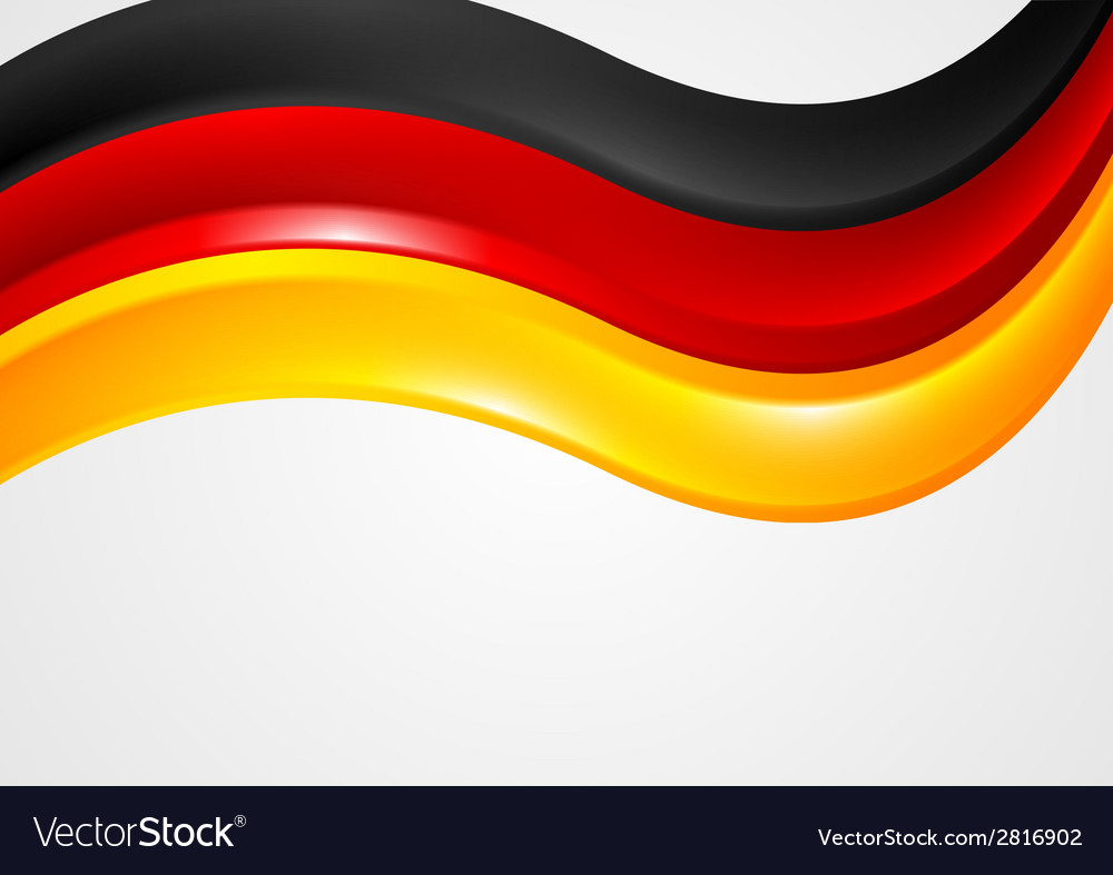 Wavy german colors background flag design vector | Price: 1 Credit (USD $1)