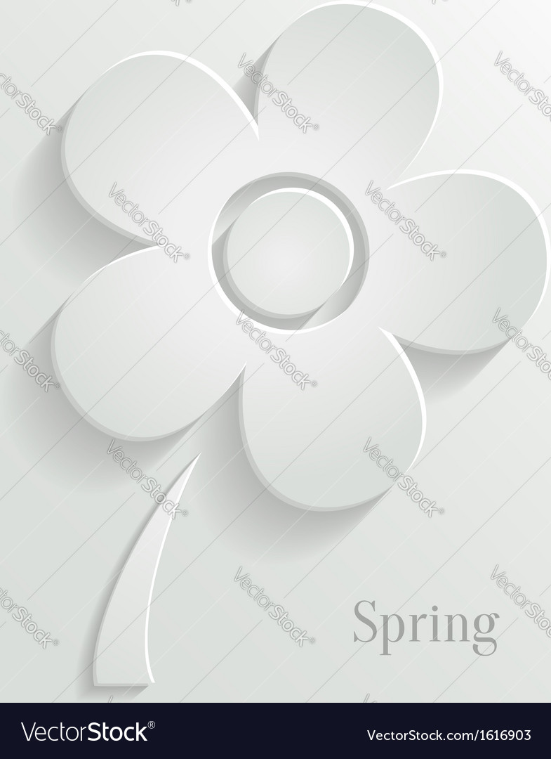 Abstract spring background with white flower vector | Price: 1 Credit (USD $1)