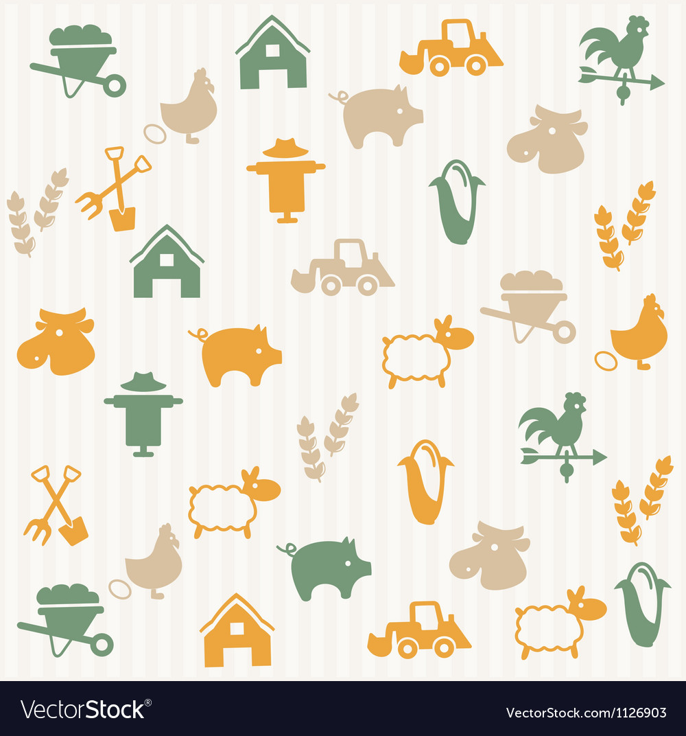 Agriculture seamless pattern vector | Price: 1 Credit (USD $1)
