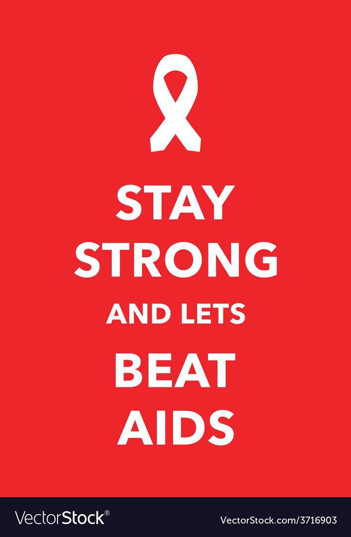Aids poster vector | Price: 1 Credit (USD $1)