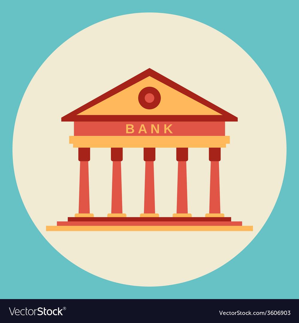 Bank building icon vector | Price: 1 Credit (USD $1)