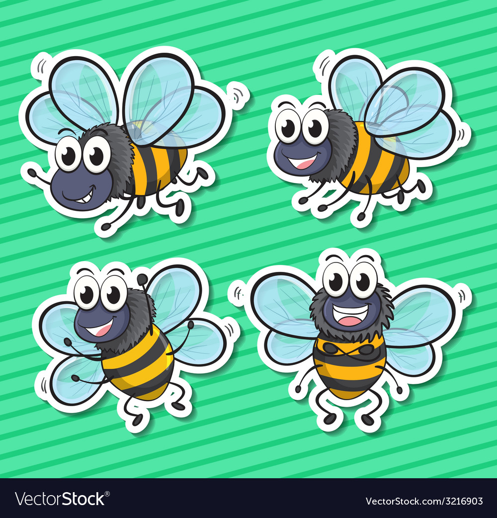 Bees vector | Price: 1 Credit (USD $1)