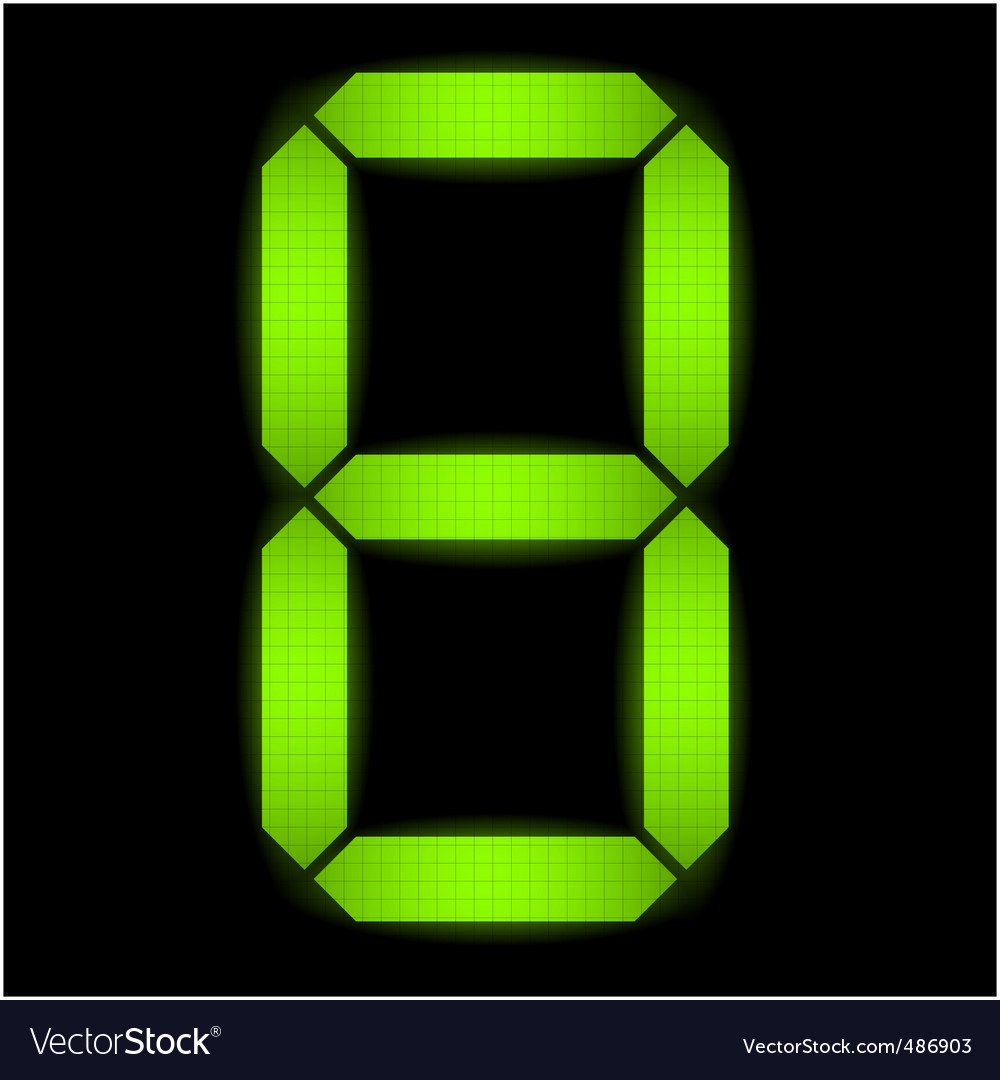 Digital number eight vector | Price: 1 Credit (USD $1)
