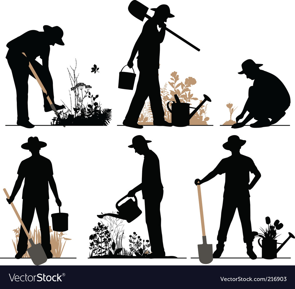 Gardener vector | Price: 1 Credit (USD $1)