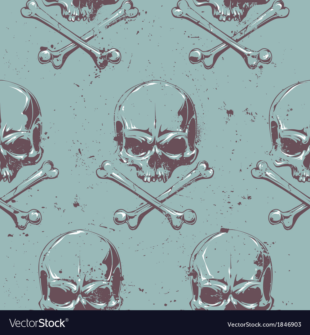 Grunge skull seamless 1 vector | Price: 1 Credit (USD $1)