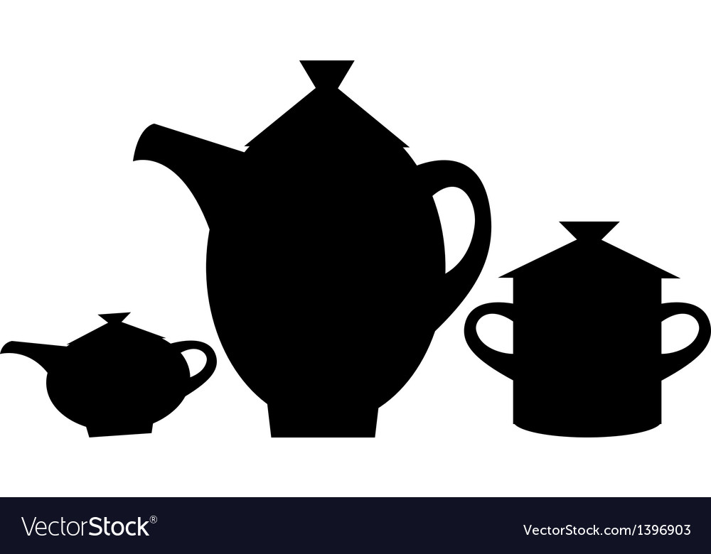 Icon tea pot vector | Price: 1 Credit (USD $1)