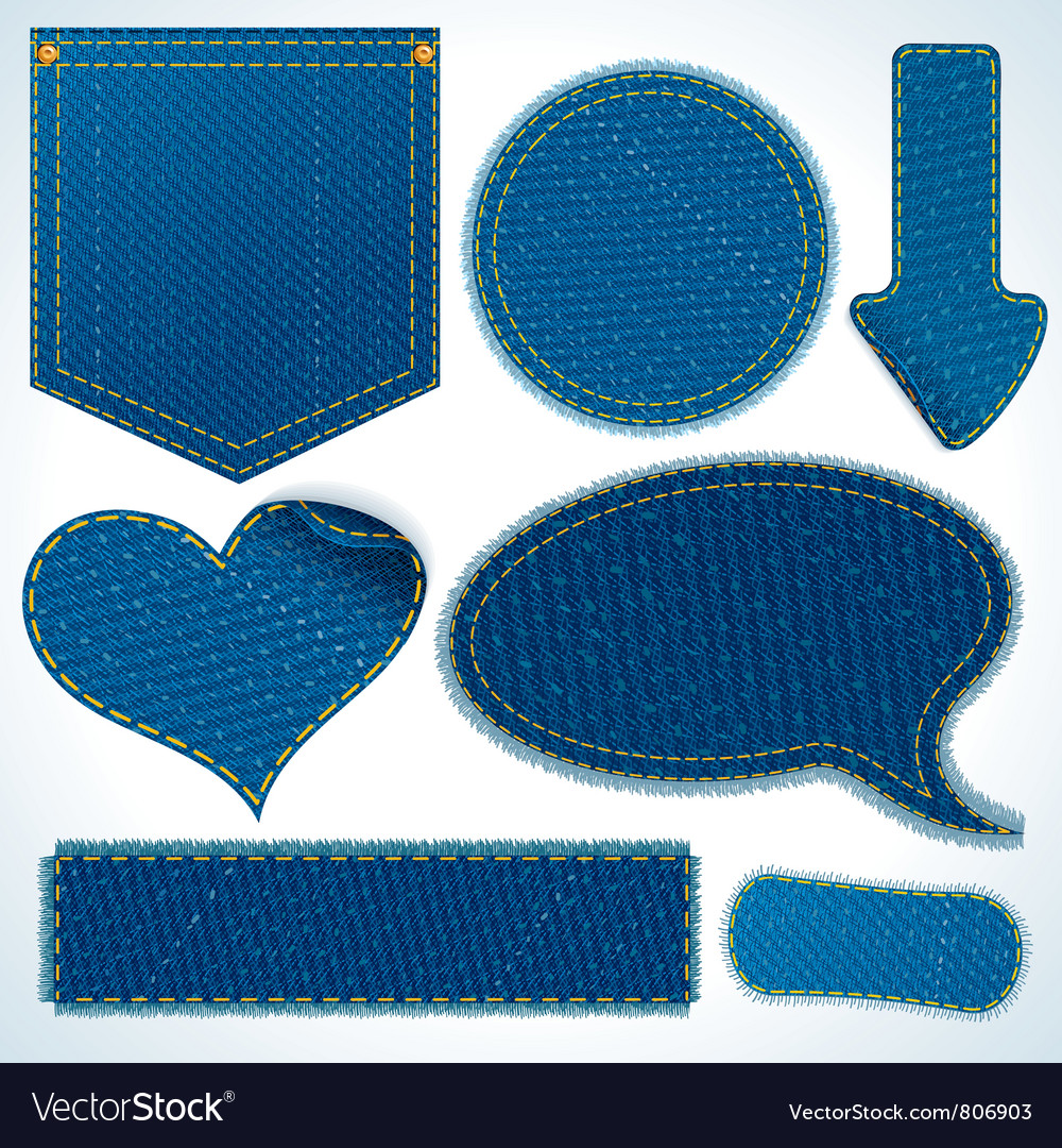 Jeans elements vector | Price: 1 Credit (USD $1)