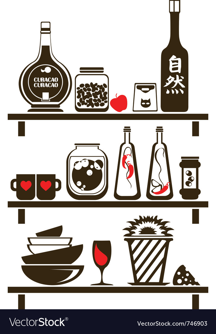 Kitchen shelves vector | Price: 1 Credit (USD $1)