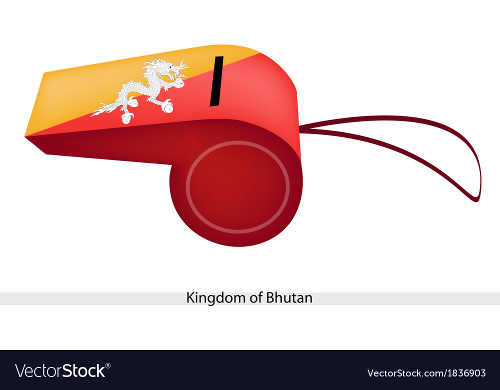 Orange and yellow colors on bhutan whistle vector | Price: 1 Credit (USD $1)
