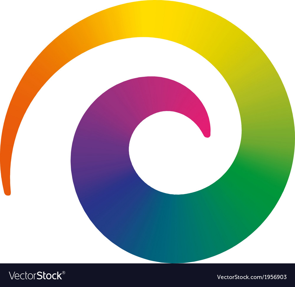 Rainbow spiral vector | Price: 1 Credit (USD $1)