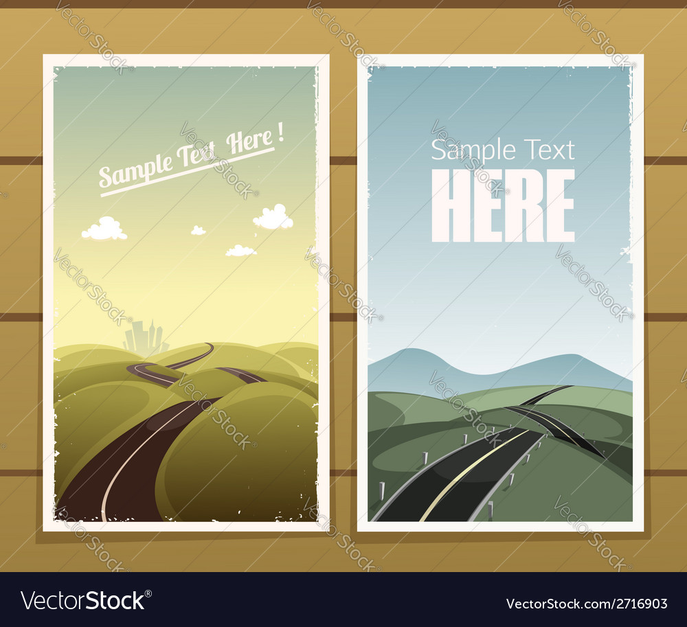 Road posters vector | Price: 1 Credit (USD $1)