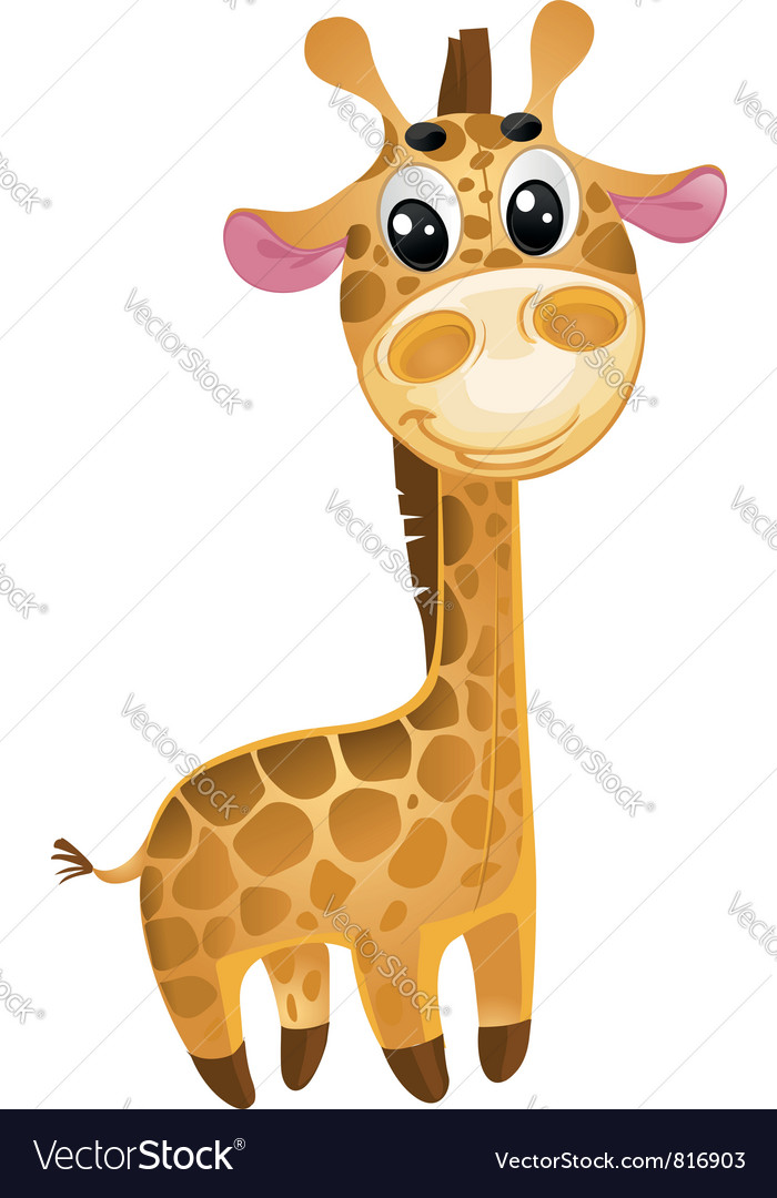 Soft toys - baby giraffe vector | Price: 3 Credit (USD $3)