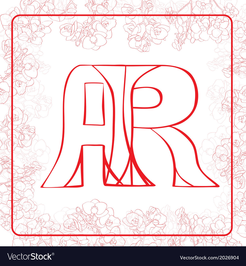 Ar monogram vector | Price: 1 Credit (USD $1)