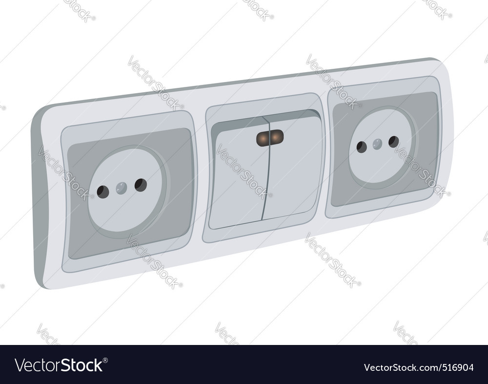 Block of sockets and the switch vector | Price: 1 Credit (USD $1)