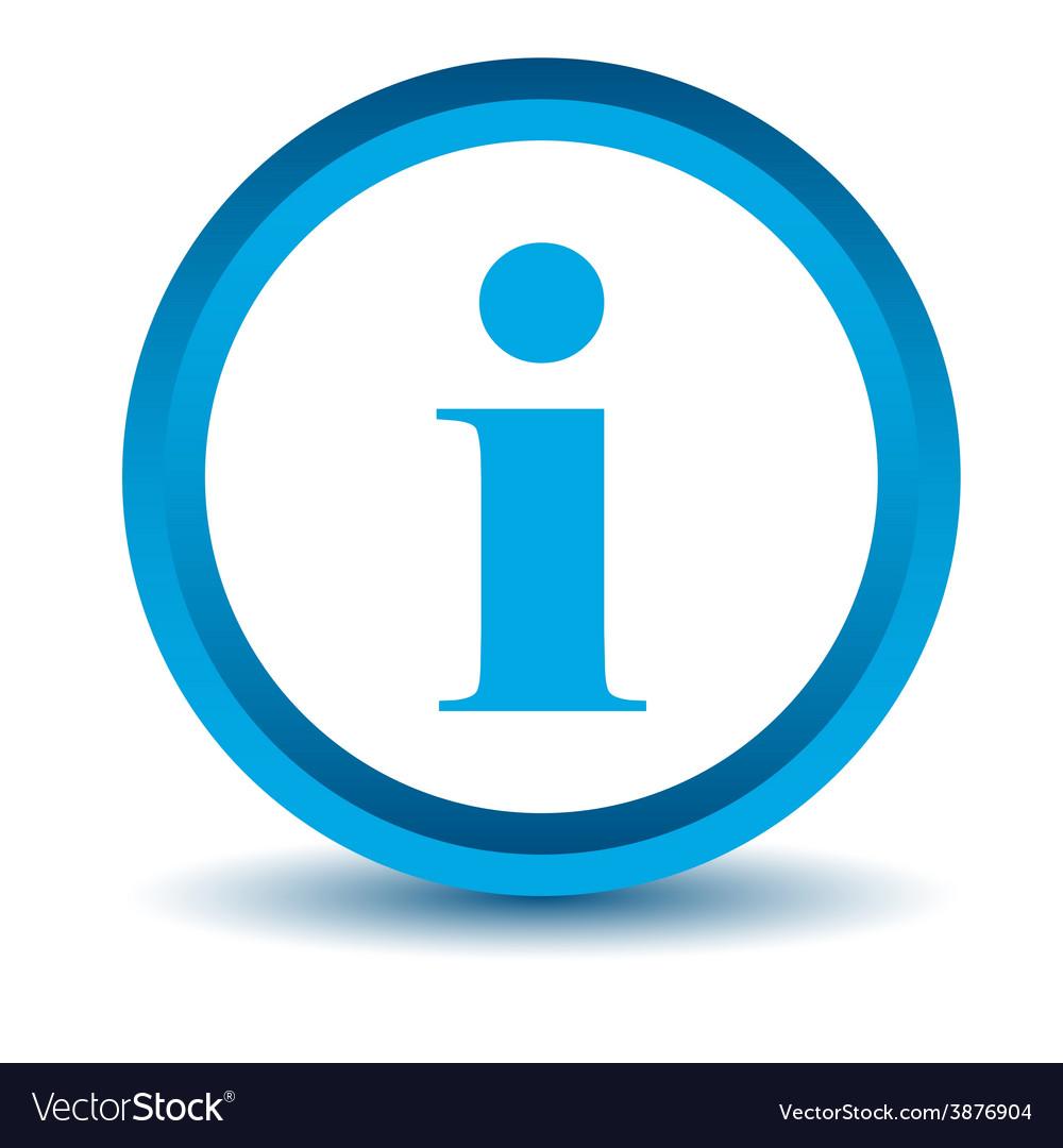 Blue info icon vector | Price: 1 Credit (USD $1)